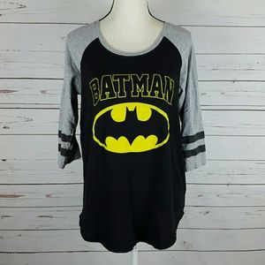 Batman Stripe Sleeve Raglan XL